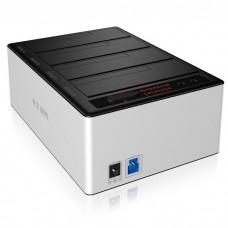"""ICY BOX IB-141CL-U3 DOCKING STATION, 4x SATA 2,5""""/3,5"""" USB 3.0 ALUMINIUM / 20919"""