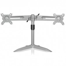 """IB-AC638 DUAL MONITOR STAND UP TO 24"""" SILVER /70557"""
