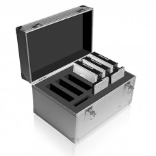 """ICY BOX IB-AC626 ALUMINIUM SUITCASE FOR 6x3.5"""" + 3X2.5""""    /70626"""