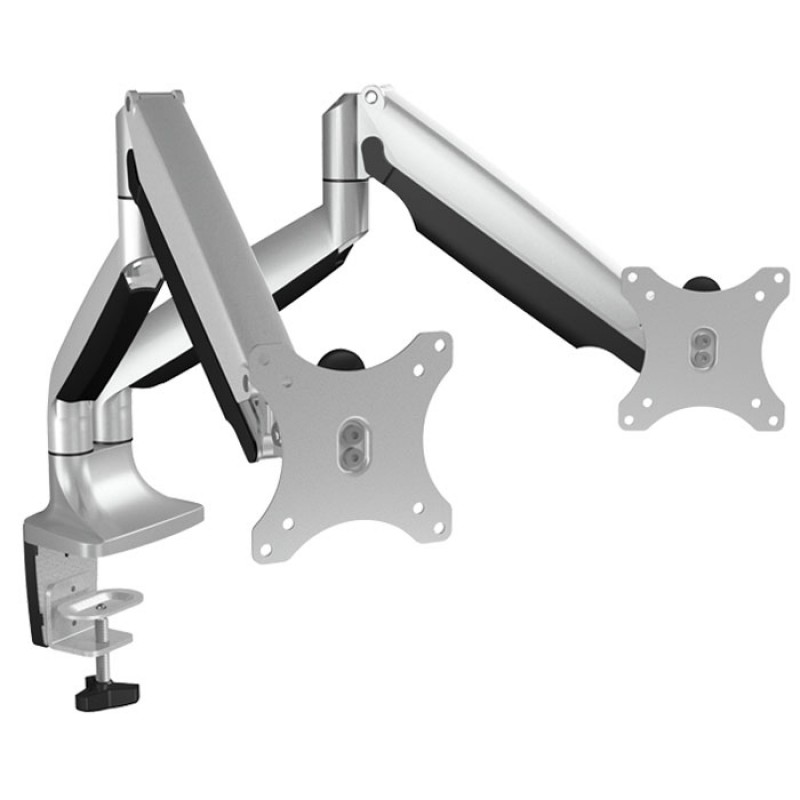 """ICY BOX IB-MS504-T Monitor stand with table support for two monitors up to 32"""" /"""