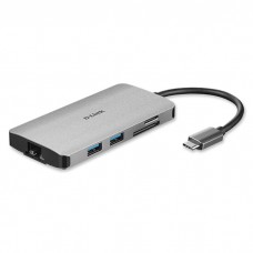 D-LINK DUB-M810 8-in-1 USB-C Hub with HDMI/Ethernet/Card Reader/Power Delivery