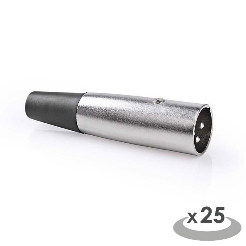 NEDIS CAVC15900ME XLR Connector XLR 3-pin Male 25 pieces Metal