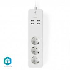 NEDIS WIFIP310FWT WiFi Smart Extension Socket 3x Schuko Type F 4x USB 16A