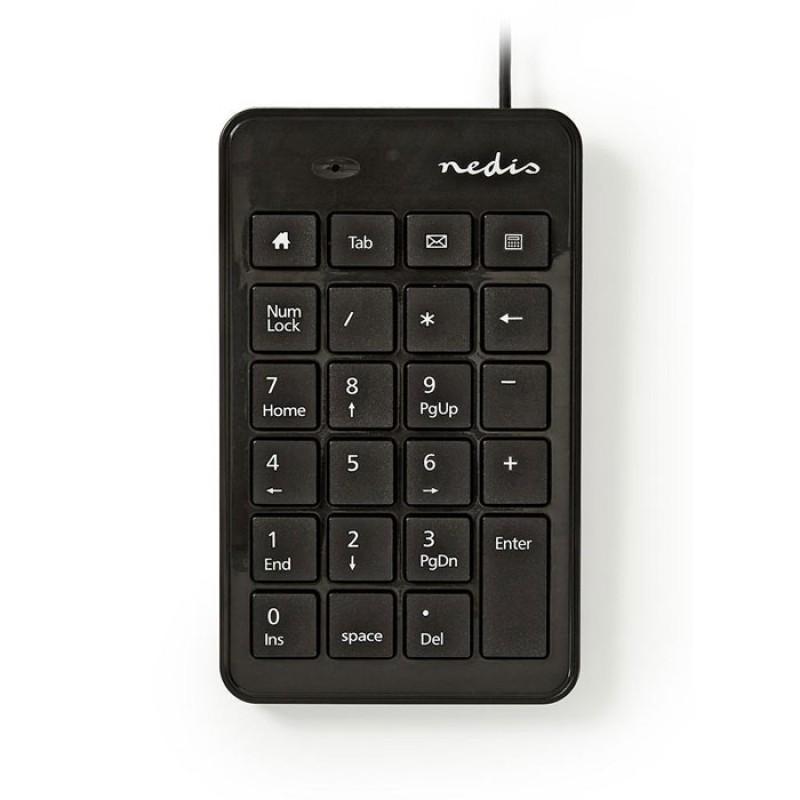 NEDIS KBNM100BK Wired Numeric Keypad USB Black