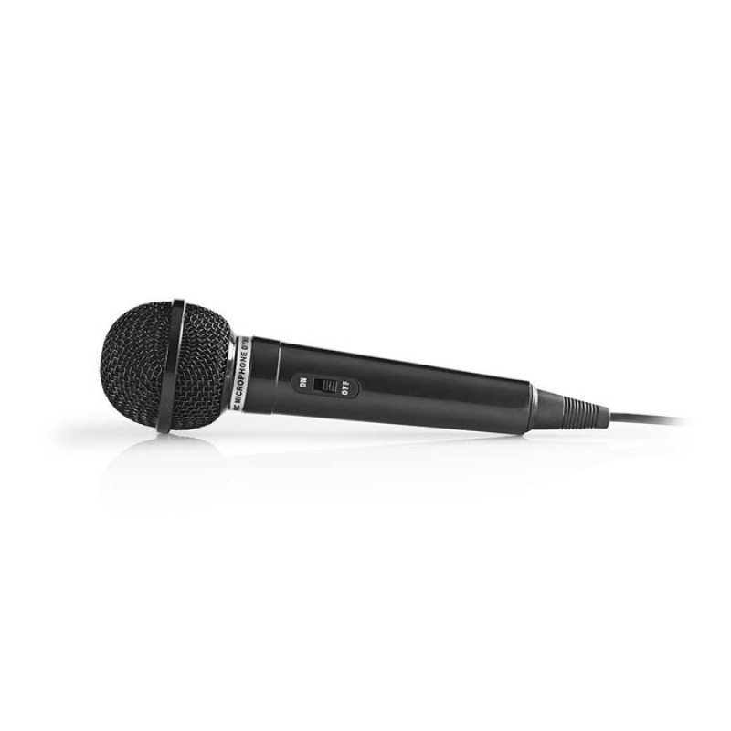 NEDIS MPWD01BK Wired Microphone -75 dB +/-3dB Sensitivity 80 Hz - 12 kHz 5.0m